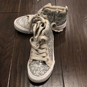 Silver Glitter Gap Shoes